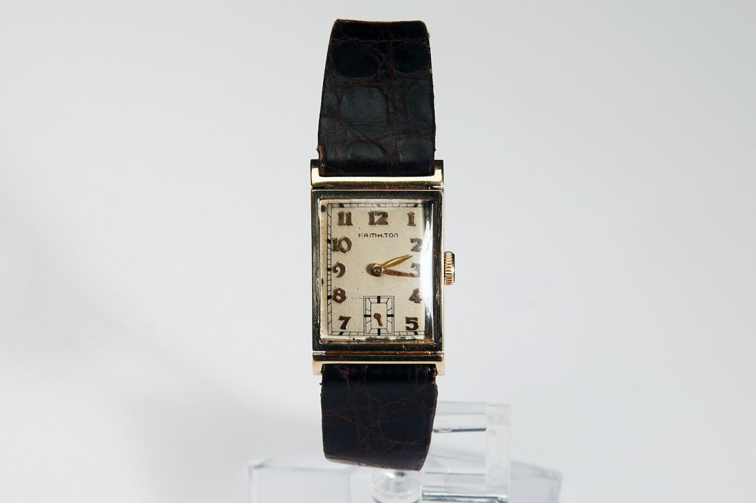 "14K Solid Gold Hamilton ""Gilbert"" Wristwatch"