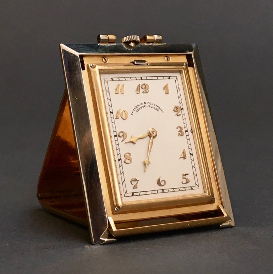 18K Vacheron Constantin Mini Folding Travel Clock
