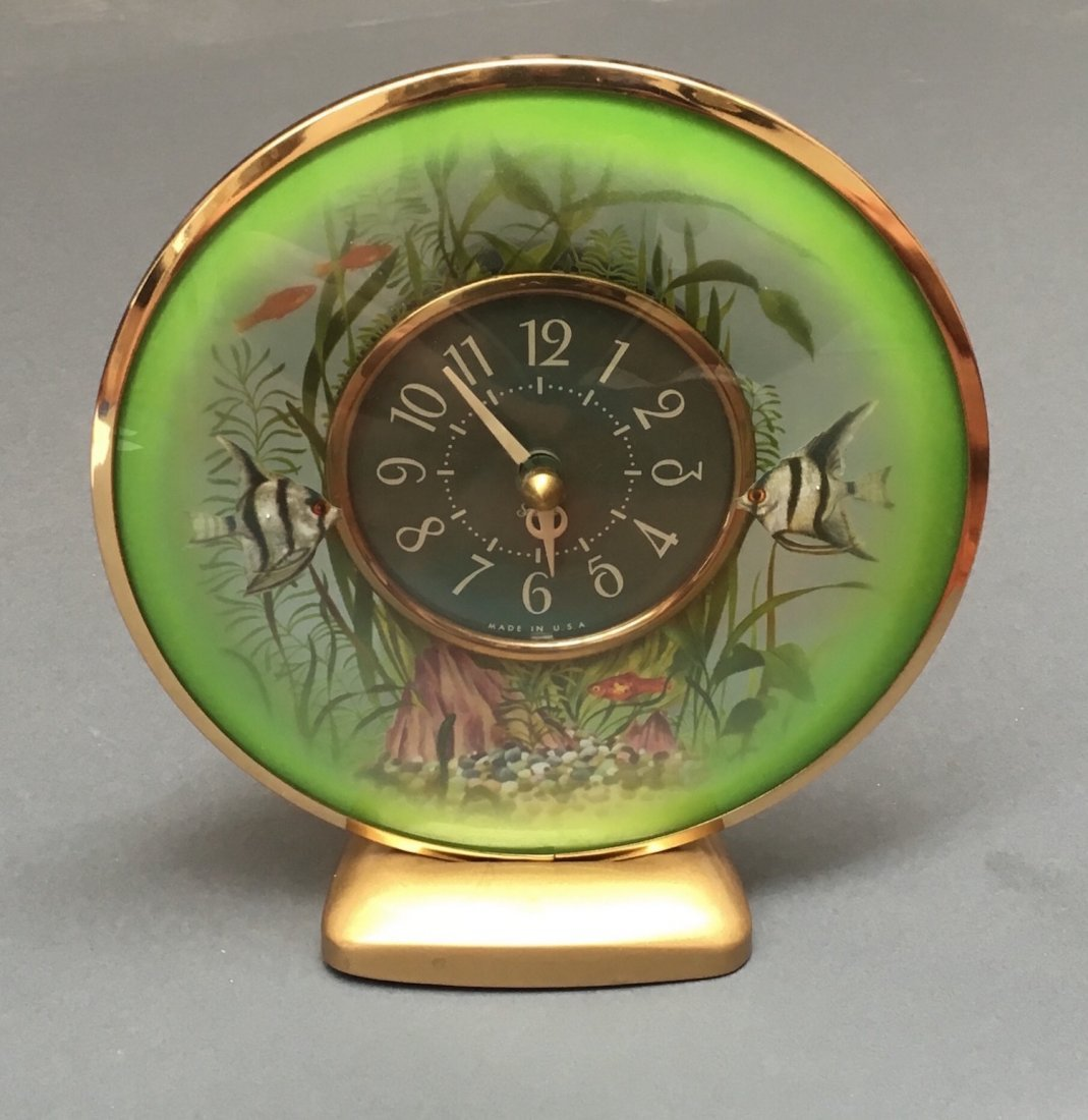 Sessions Lighted Fish Aquarium Clock