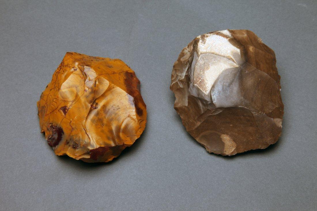 2 Stone Achulean Scrapers, Neanderthal Tools