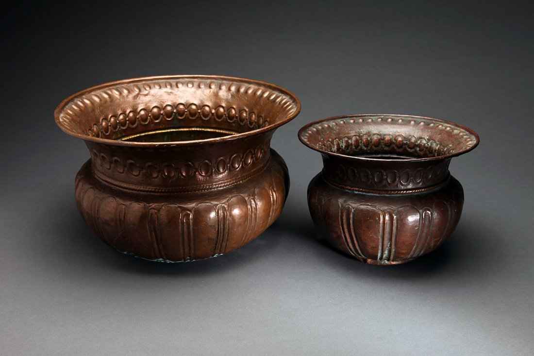 2 Italian Renaissance Copper Basins