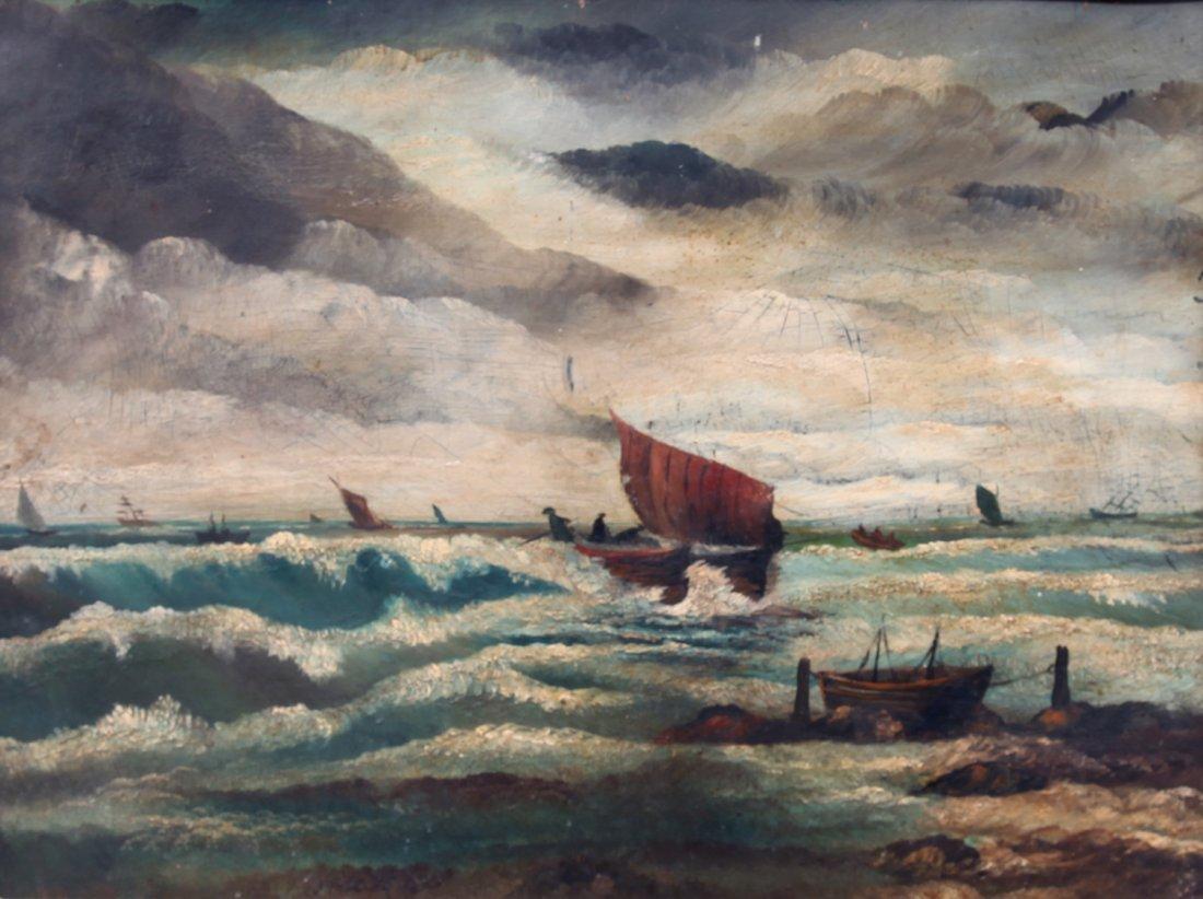 Thomas Chambers O/B Sailboat  Painting