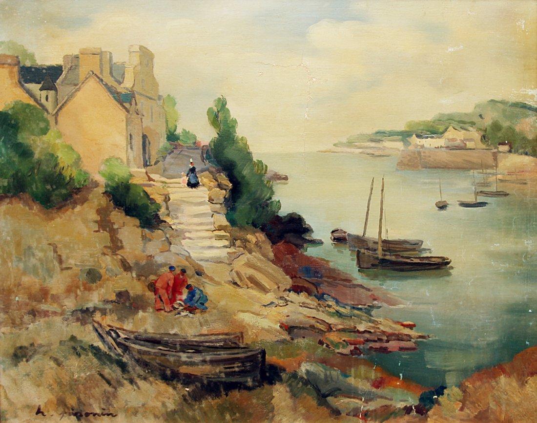 Hortense Pironin Fishing Village French Landscape