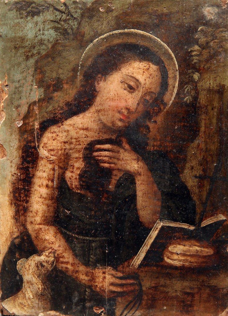 Italian 17th Century O/B Religious Painting
