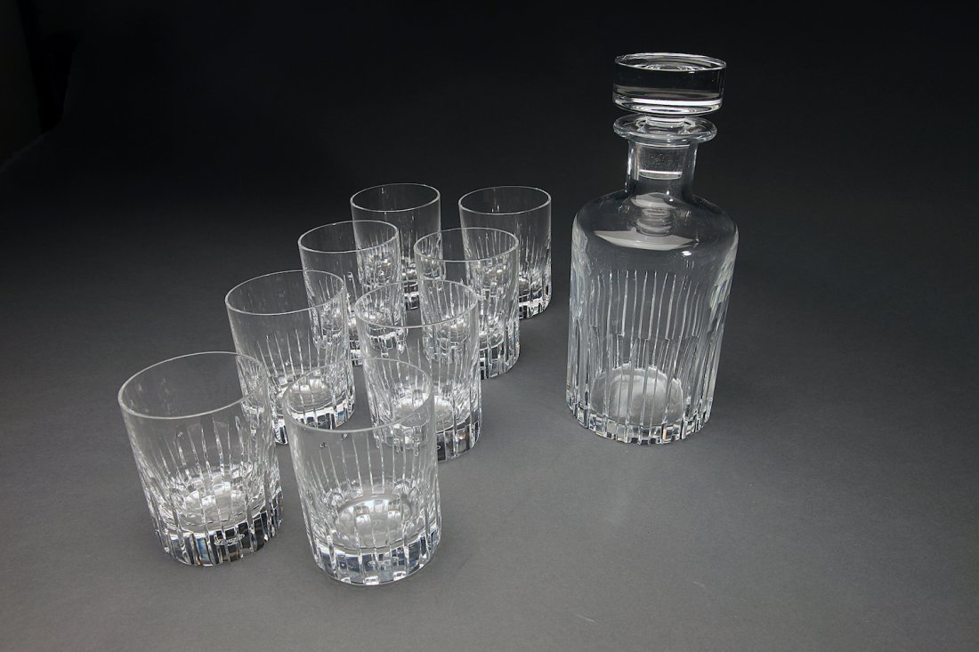 Baccarat Crystal Decanter With (8)Tumblers