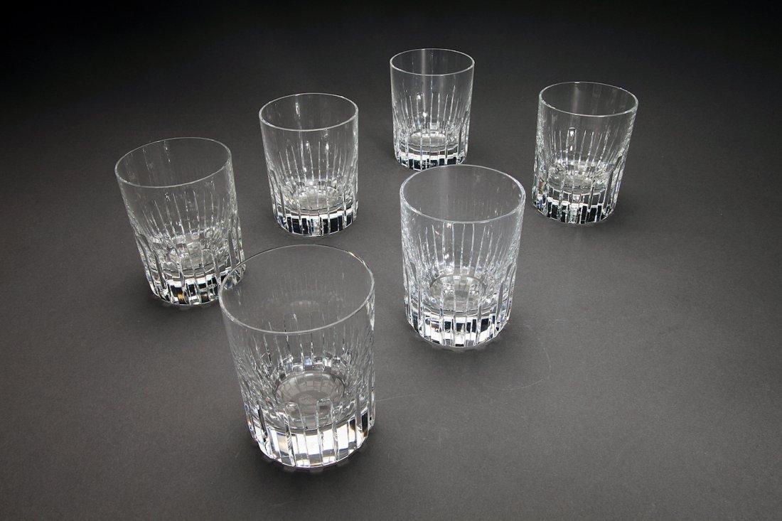 Baccarat Cut Crystal Glass Tumblers (6)