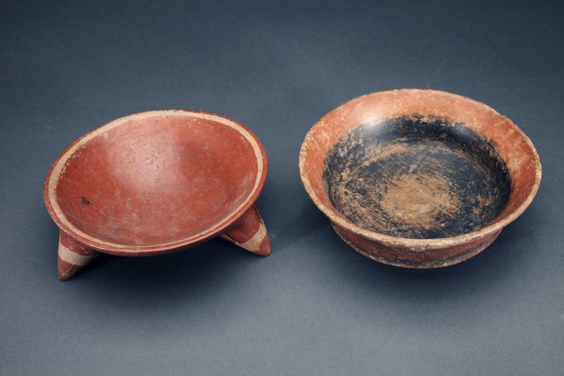 2 Pre-Columbian Pottery Bowls