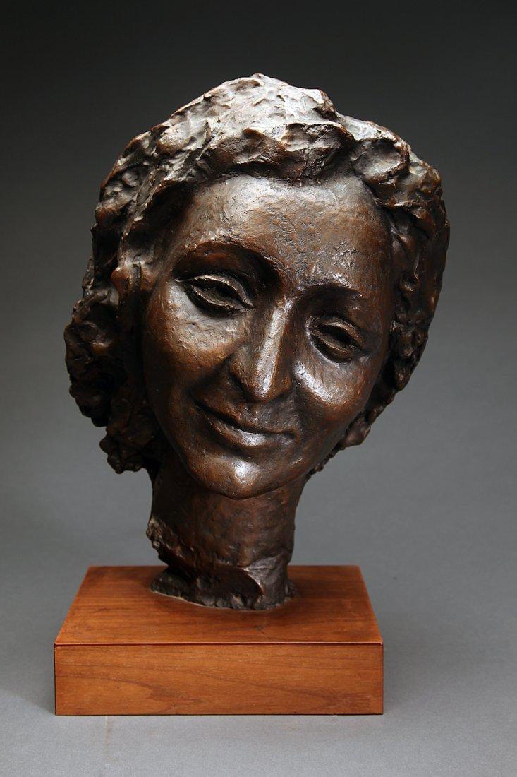 N. Rapoport Bronze Head of a Woman