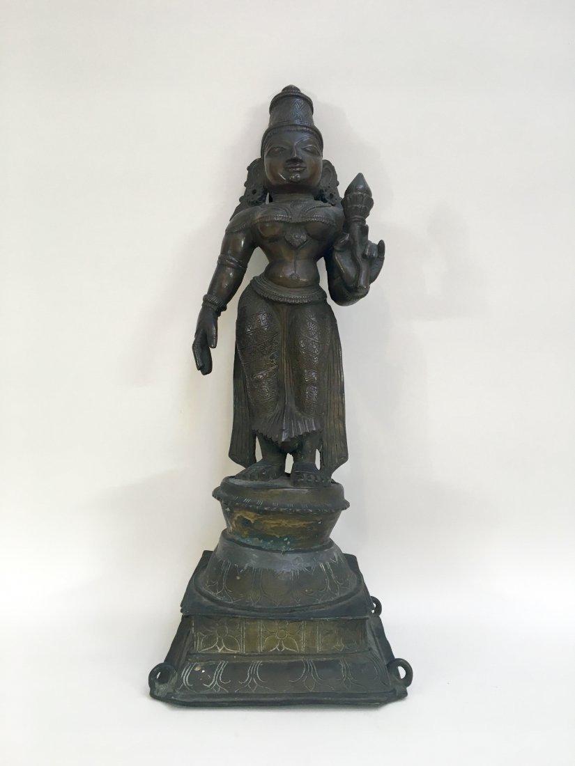 Large Antique Indian Bronze Devi