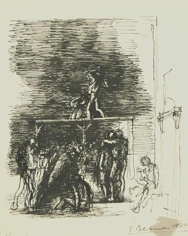 Alegorical Subjects Drawing #1 by Eugene Berman
