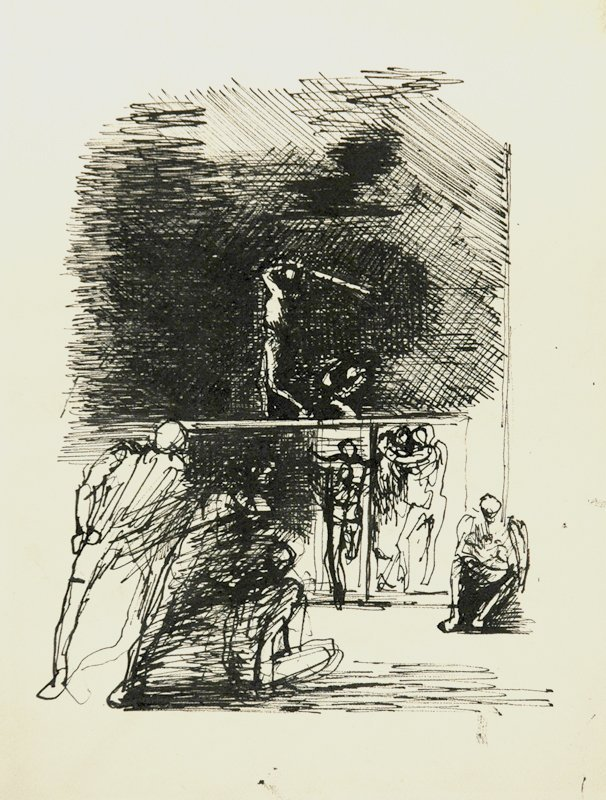 Alegorical Subjects Drawing #2 by Eugene Berman