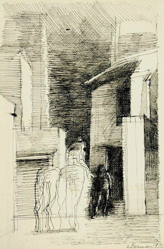Study for Le Bon Samaritain by Eugene Berman