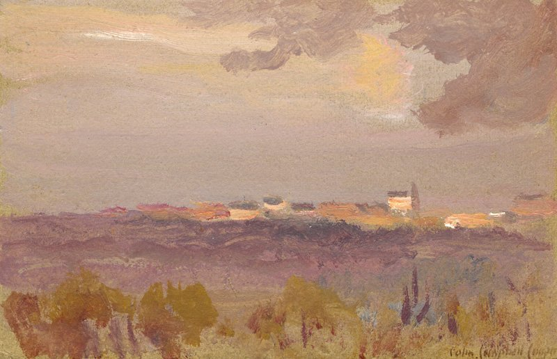 View to a Village and Church by Colin Campbell Cooper