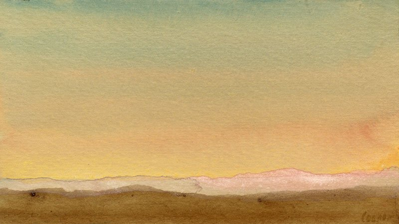 Minimalist Landscape with Pink Mountains by Colin