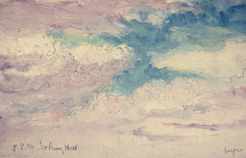 """Cloud Study - """"5 pm Looking NW""""  by C. C. Cooper"""