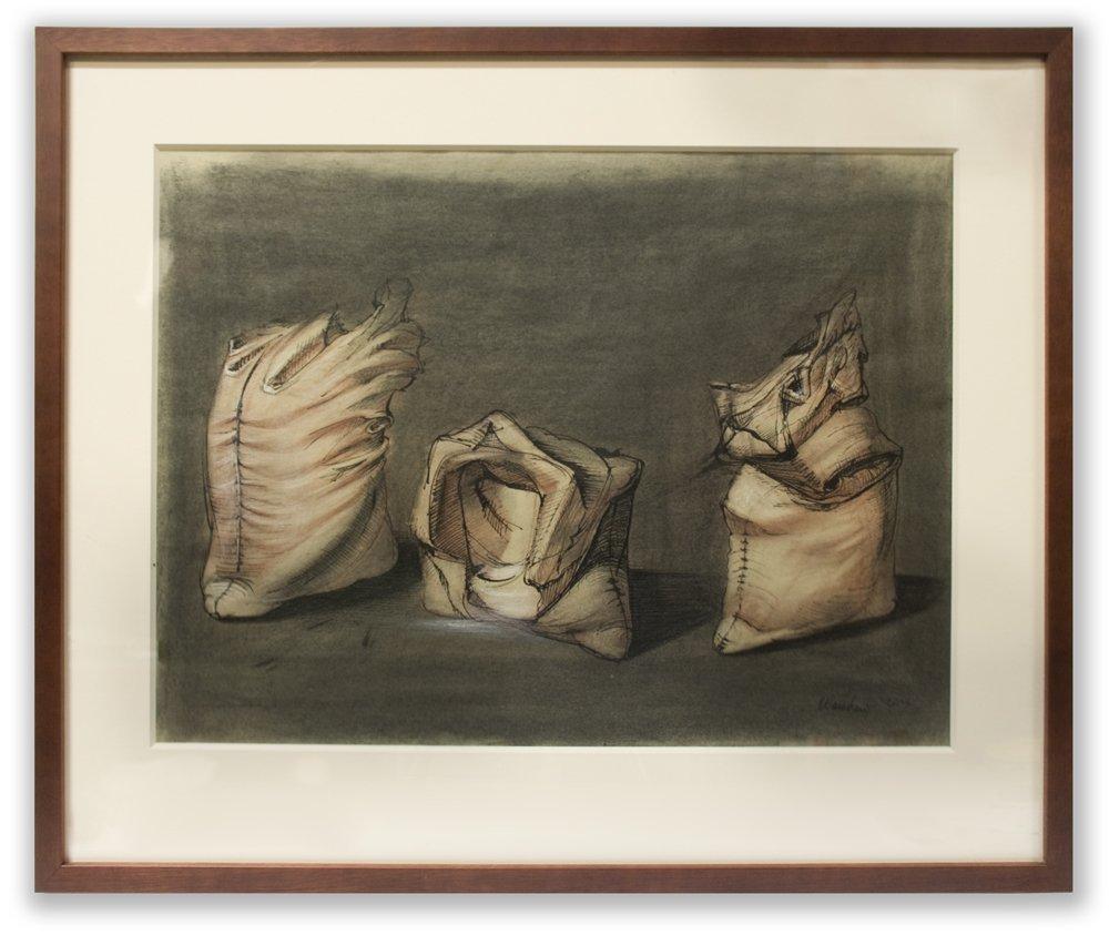 Folded Cloth Studies by Howard Warshaw, 1947