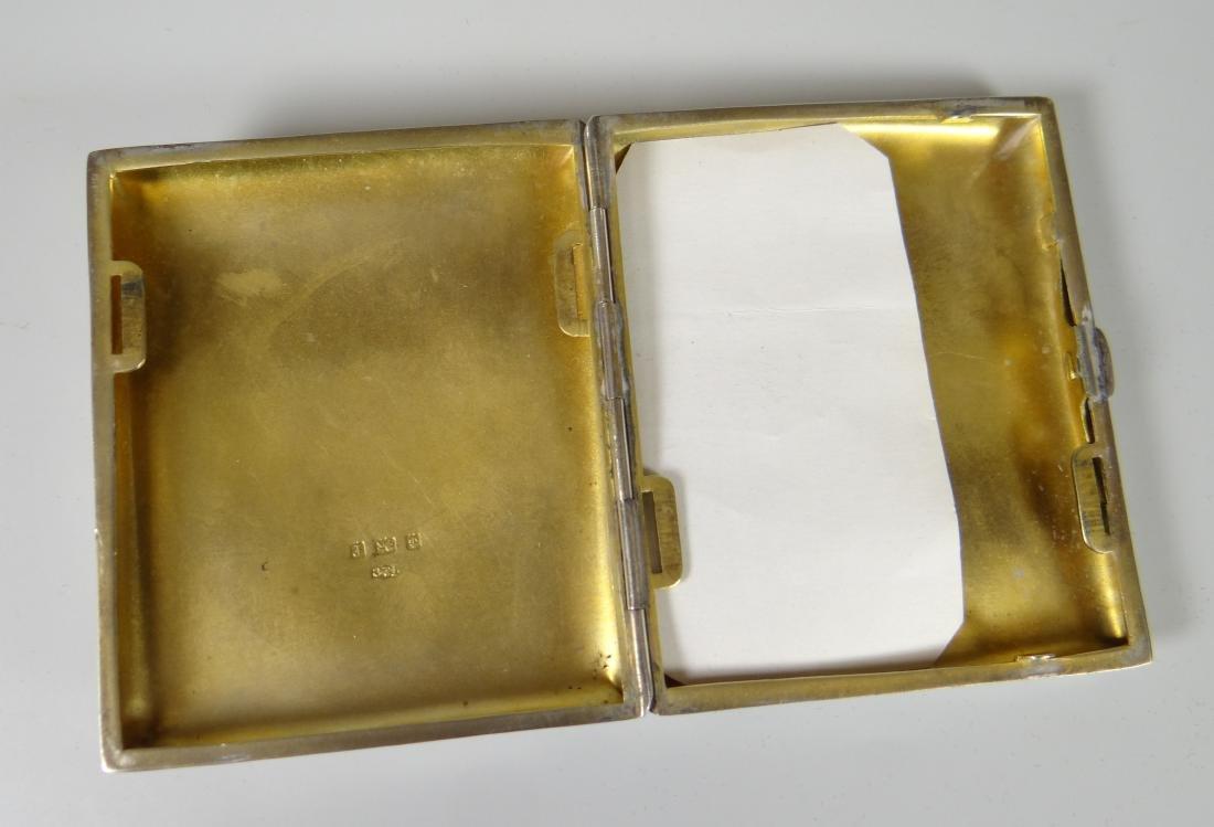 EDWARDIAN SILVER ENGRAVED CIGARETTE CASE of curved - 2