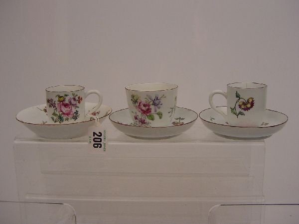 206: A Chelsea red anchor tea bowl and saucer each with
