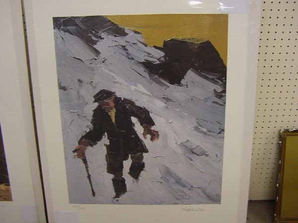 1006: SIR KYFFIN WILLIAMS limited edition coloured prin