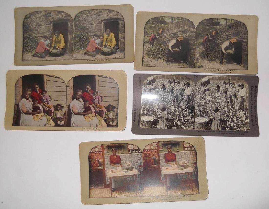5 Stereoscope view Cards