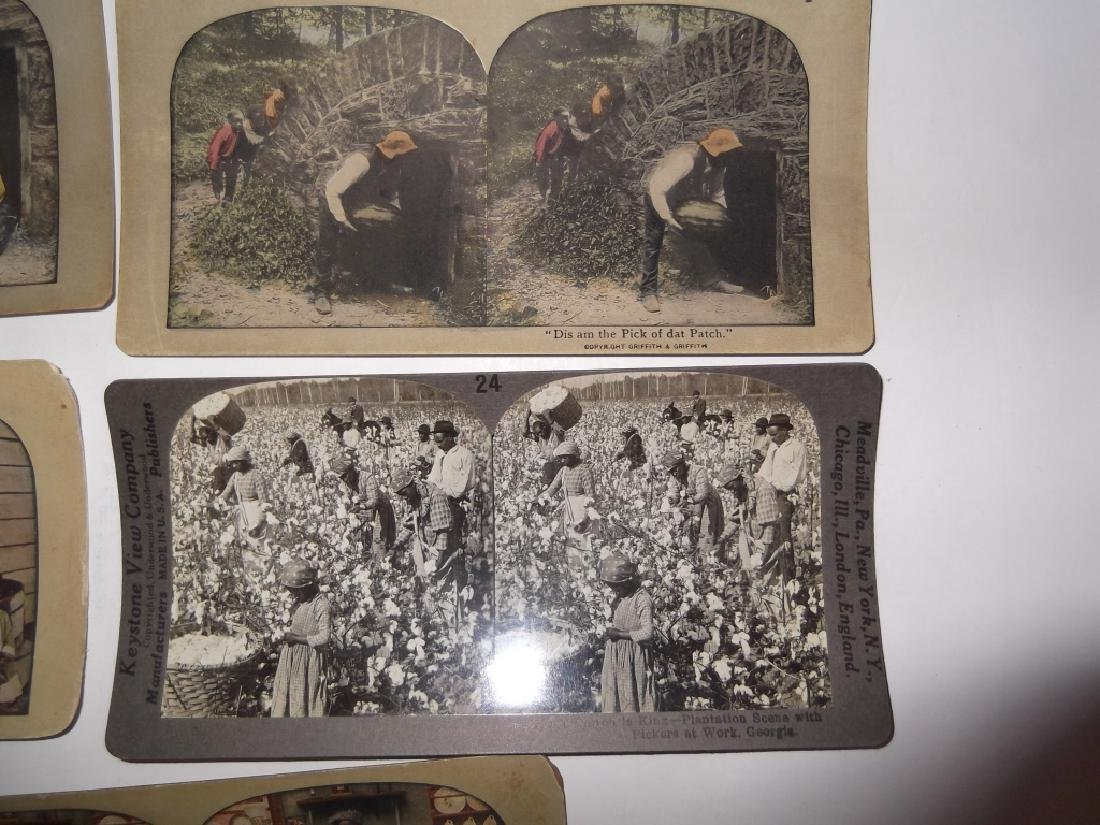 5 Stereoscope view Cards - 3