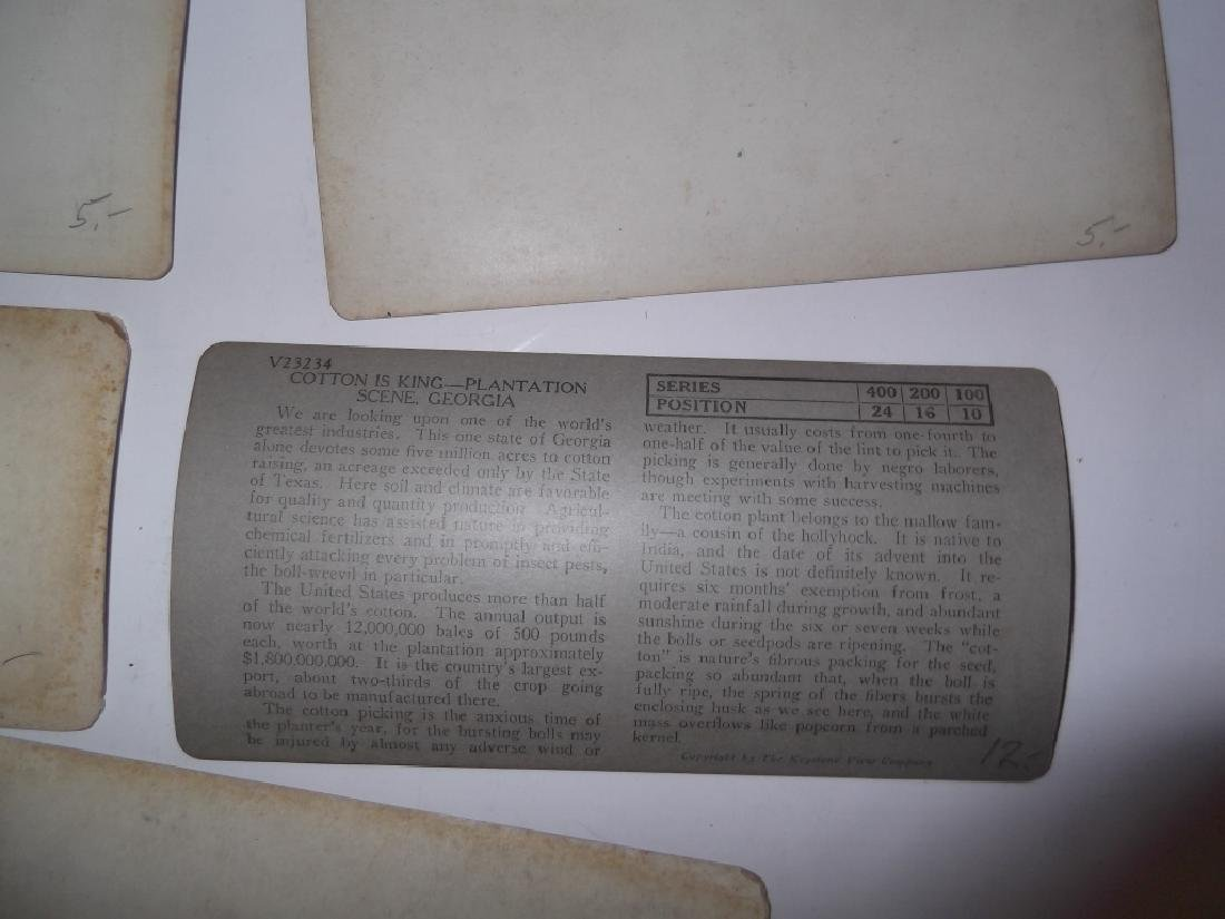 5 Stereoscope view Cards - 5