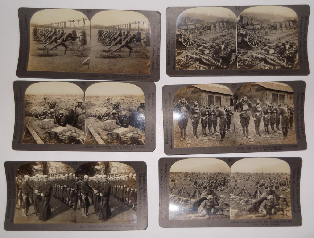 50 WWI Stereoscope view Cards - 9
