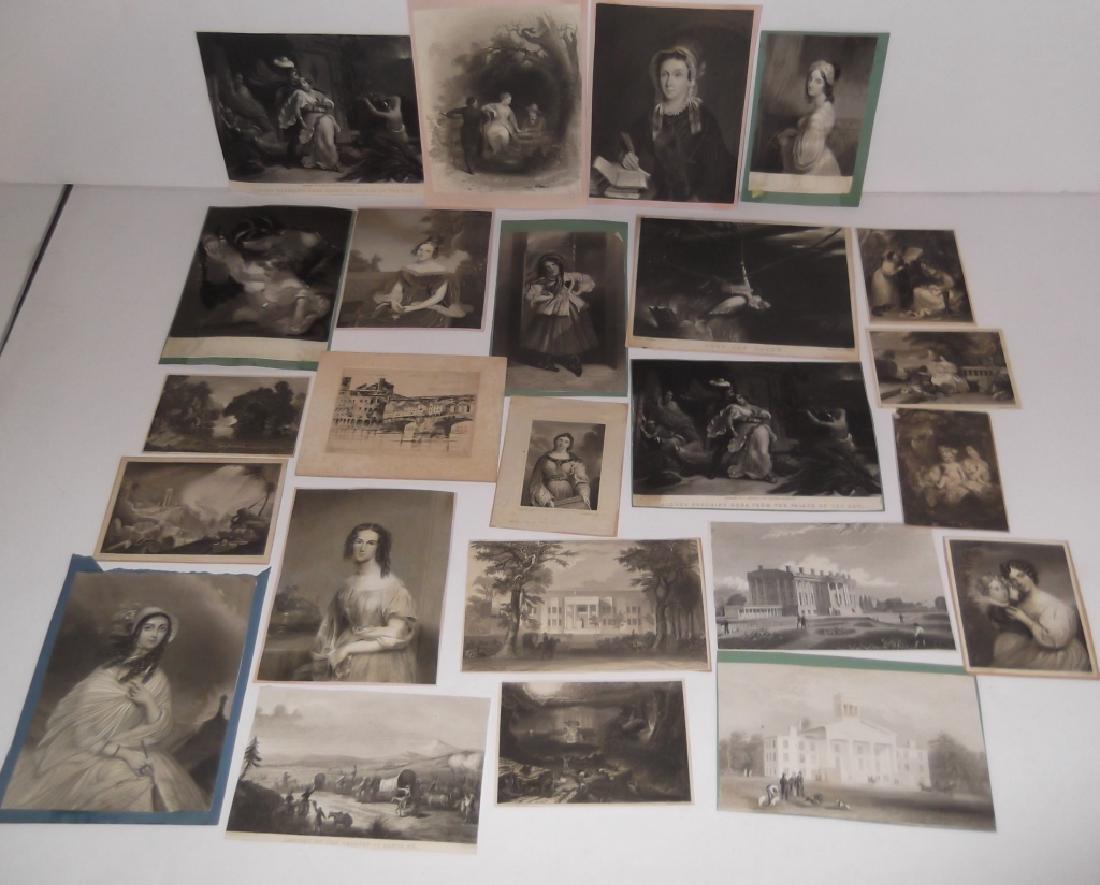 24 Bookplate engravings/etchings