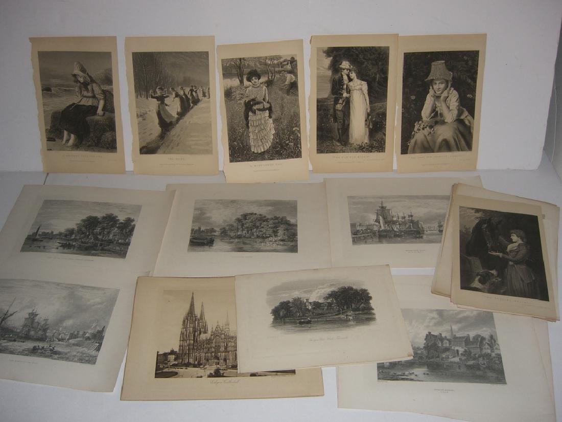 25 antique bookplate engravings/etchings