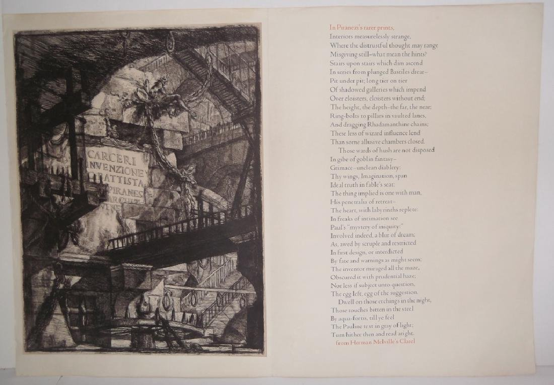 Melville on Piranesi print