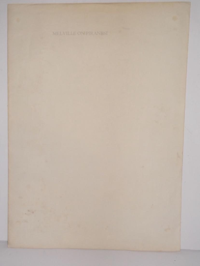 Melville on Piranesi print - 2