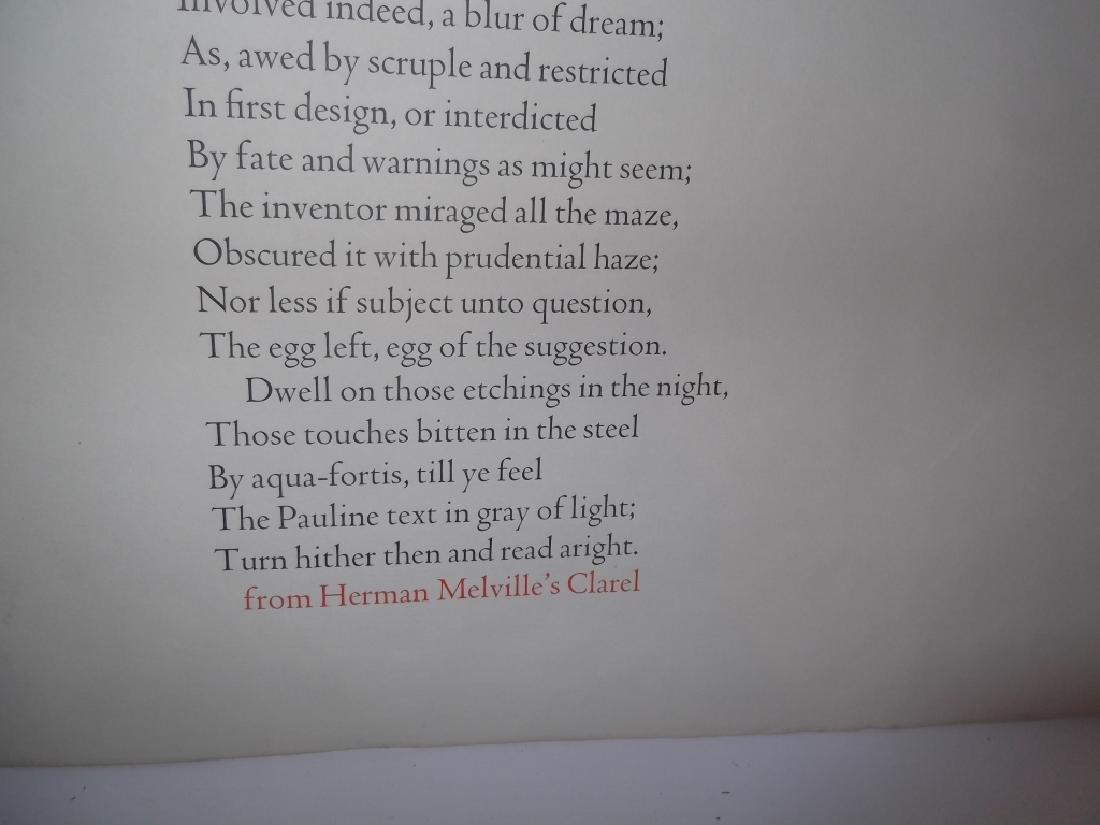 Melville on Piranesi print - 5