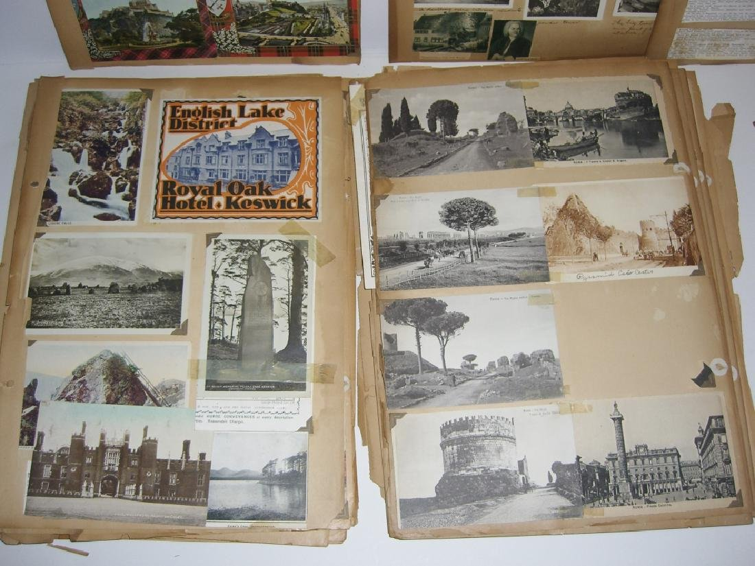 scrapbook foreign postcards; maps; advertisements - 4