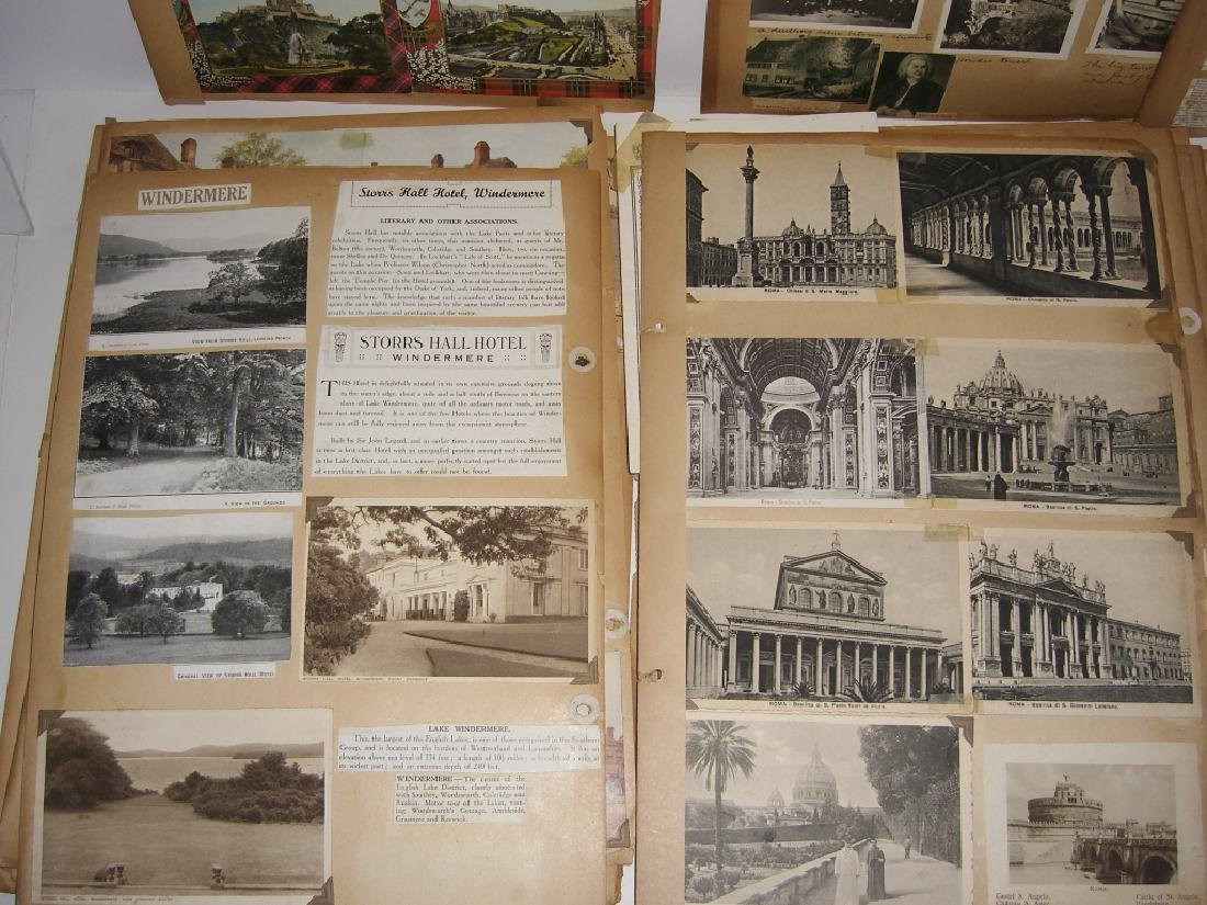 scrapbook foreign postcards; maps; advertisements - 5