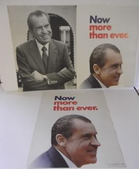 3 Richard Nixon advertising political posters