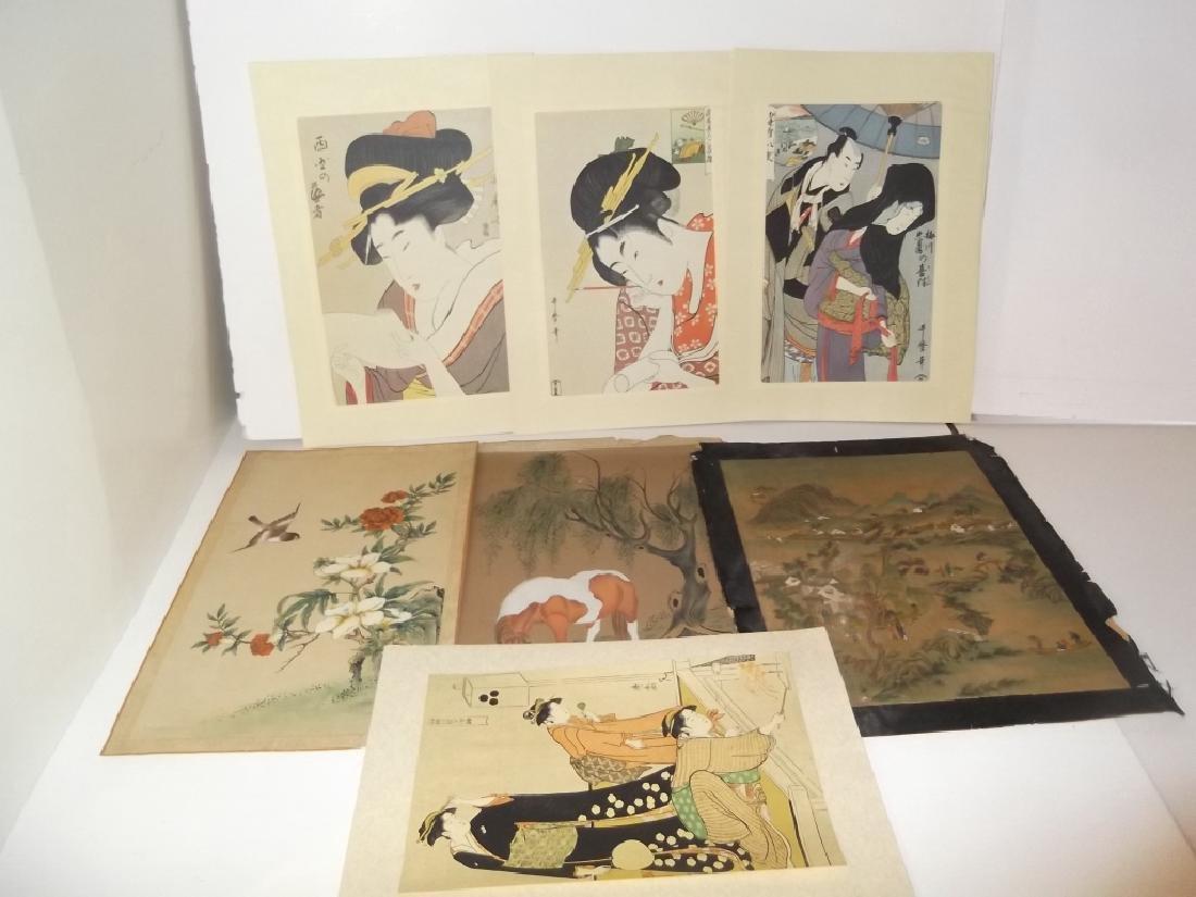 7 Japanese prints