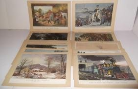 27 contemporary Currier & Ives prints