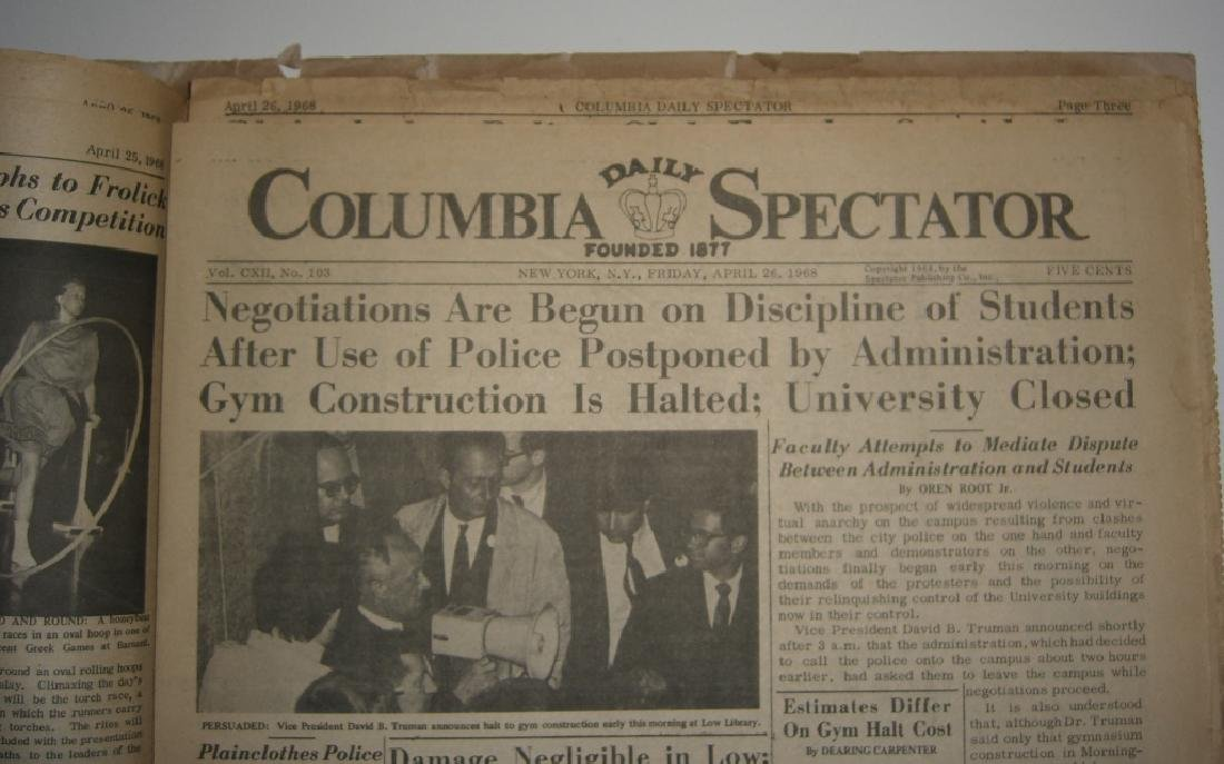 Crisis at Columbia newspaper articles - 10