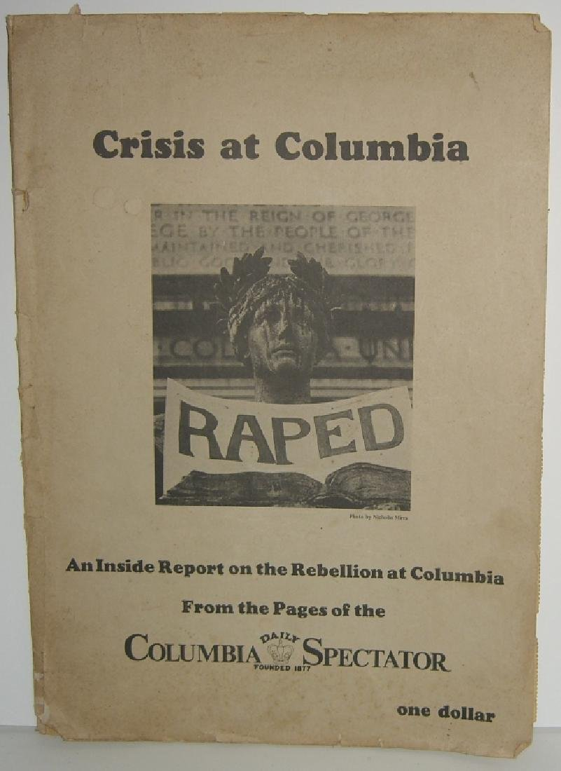 Crisis at Columbia newspaper articles