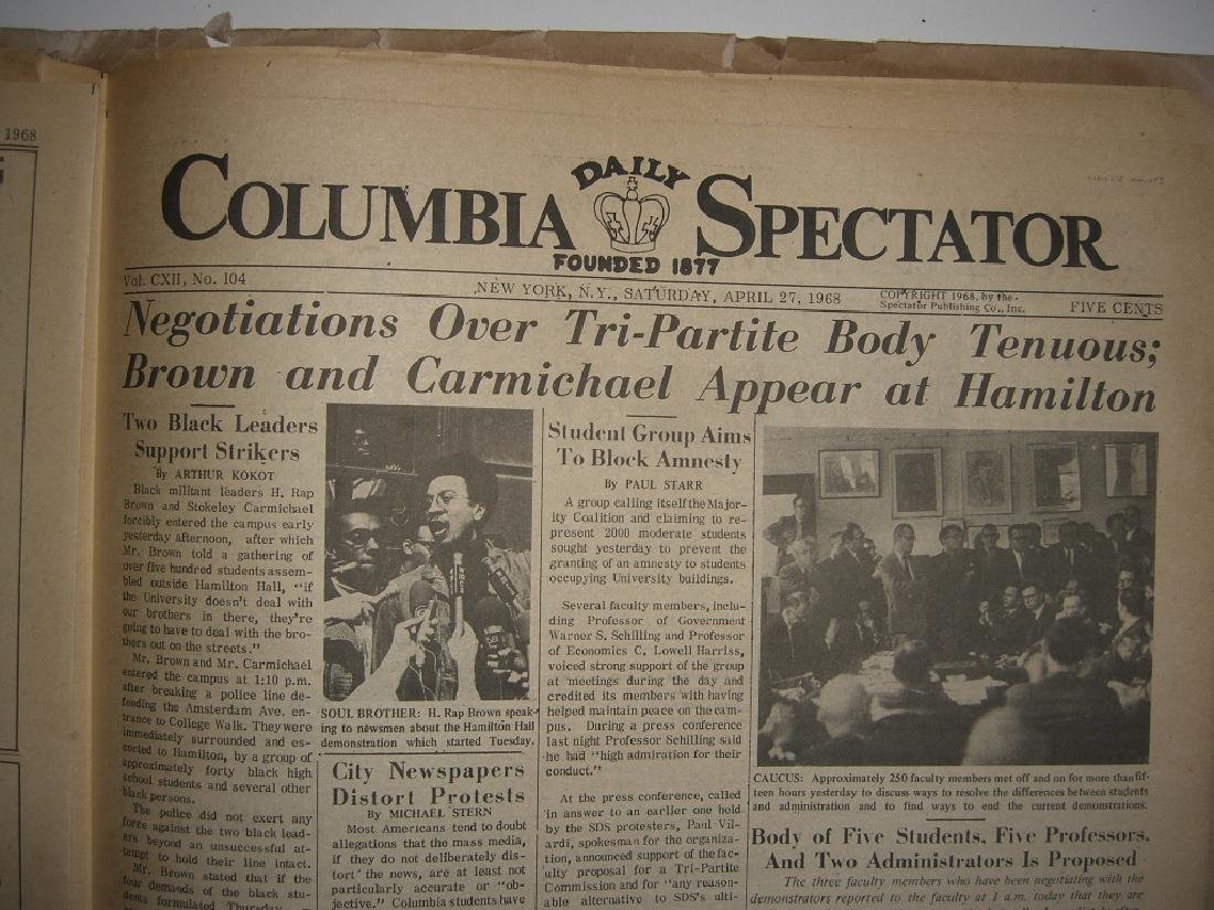 Crisis at Columbia newspaper articles - 2