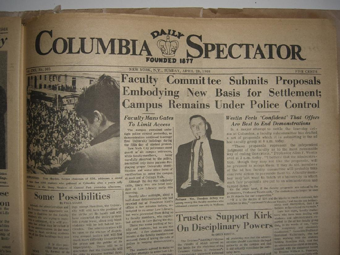 Crisis at Columbia newspaper articles - 4