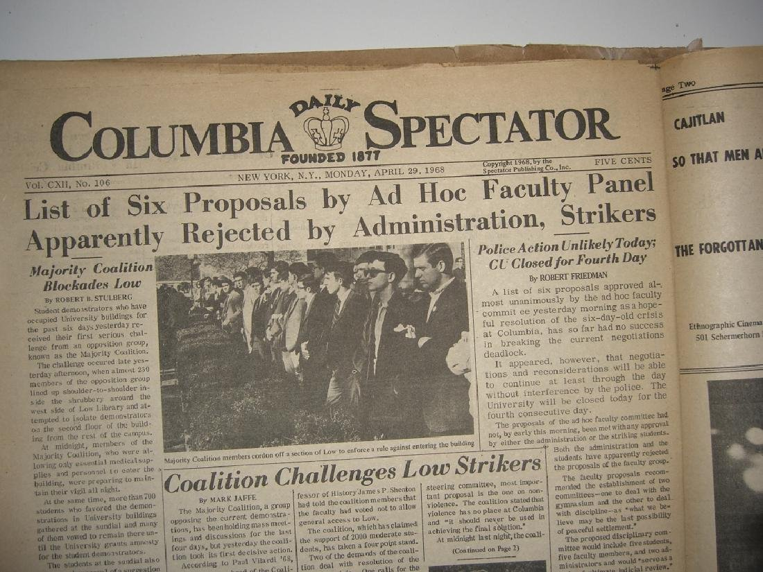Crisis at Columbia newspaper articles - 5