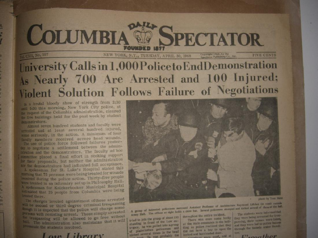 Crisis at Columbia newspaper articles - 6