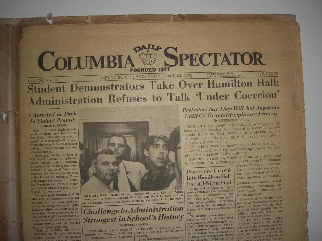 Crisis at Columbia newspaper articles - 7