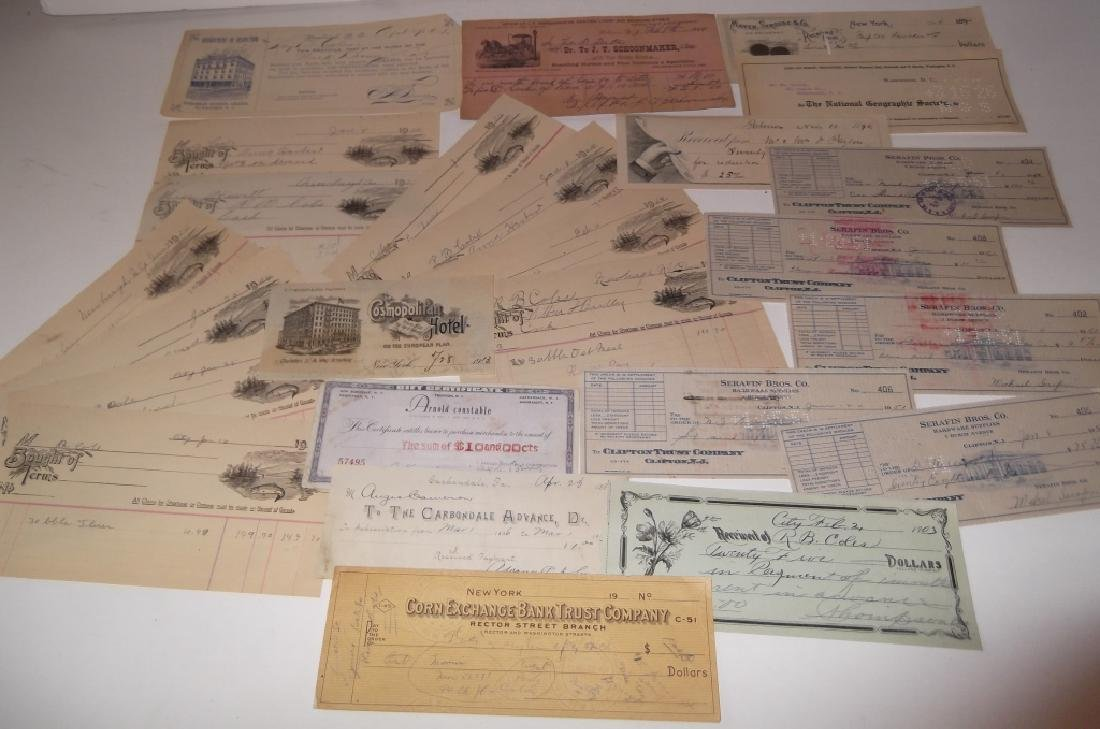 Collection of 29 1900's receipts