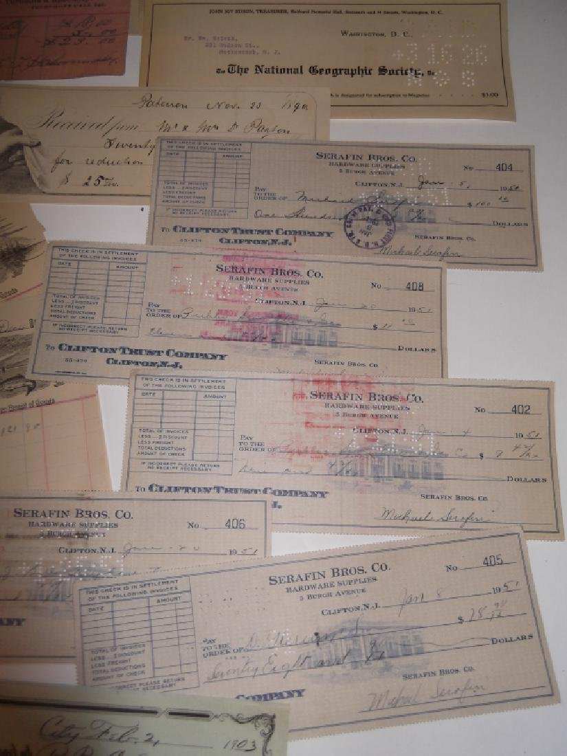 Collection of 29 1900's receipts - 2