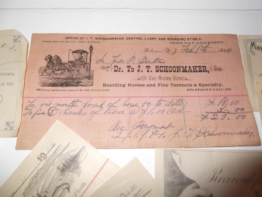 Collection of 29 1900's receipts - 3