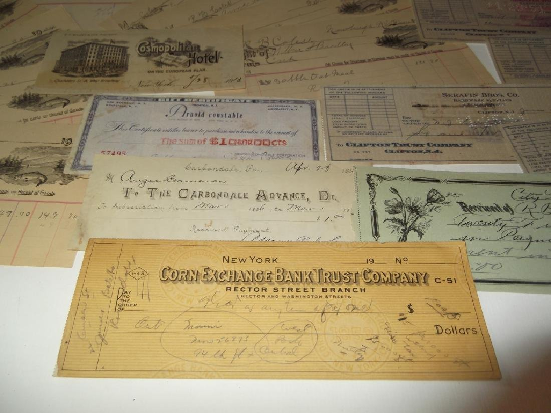 Collection of 29 1900's receipts - 4