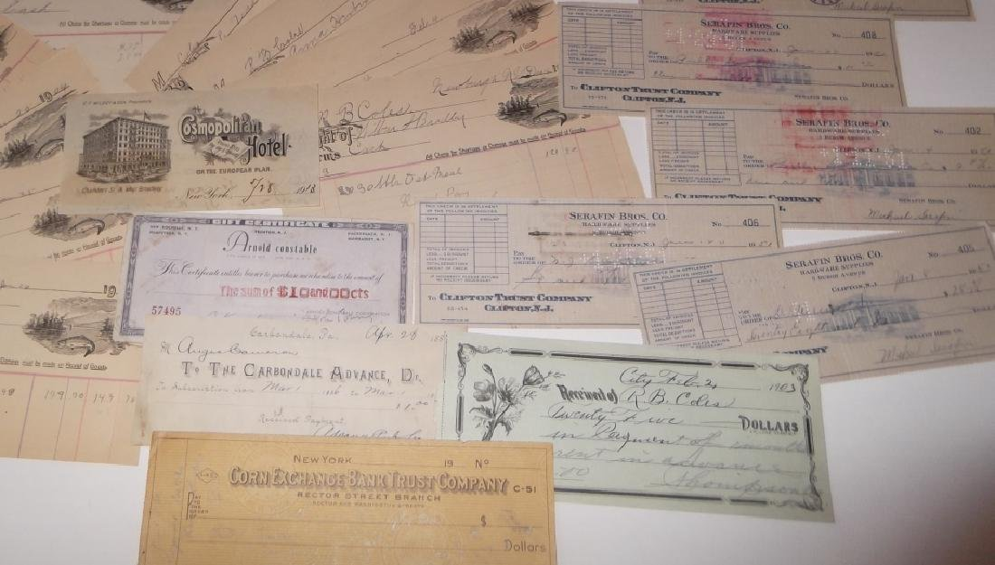 Collection of 29 1900's receipts - 5