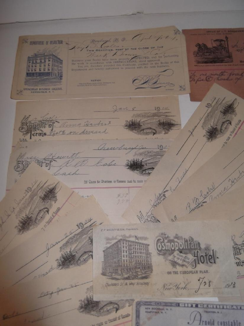 Collection of 29 1900's receipts - 6